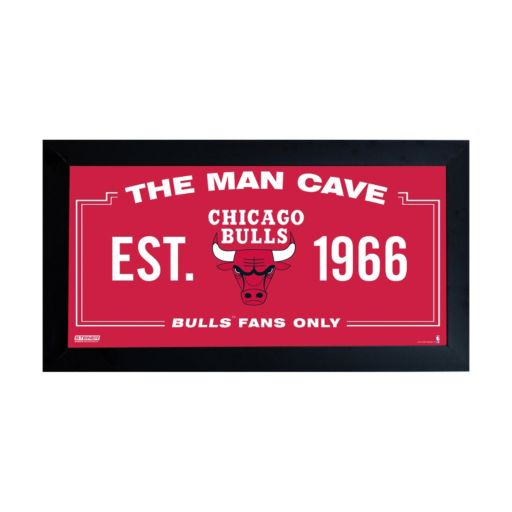 "Steiner Sports Chicago Bulls Framed 10"" x 20"" Man Cave Sign"