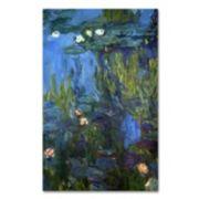 Trademark Fine Art ''Nympheas'' Canvas Wall Art by Claude Monet