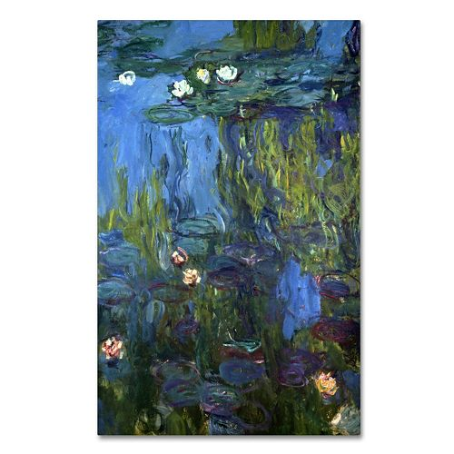 Trademark Fine Art ''Nympheas'' Canvas Wall Art by Claude Monet