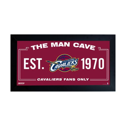 "Steiner Sports Cleveland Cavaliers Framed 10"" x 20"" Man Cave Sign"