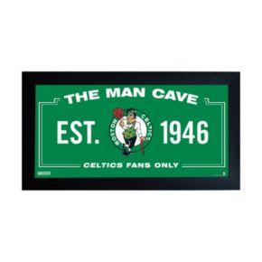 "Steiner Sports Boston Celtics Framed 10"" x 20"" Man Cave Sign"