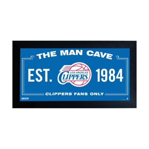 Steiner Sports Los Angeles Clippers Framed 10 x 20 Man Cave Sign