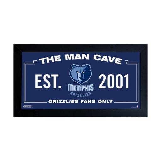 "Steiner Sports Memphis Grizzlies Framed 10"" x 20"" Man Cave Sign"