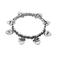 Believe In Heart Charm Stretch Bracelet