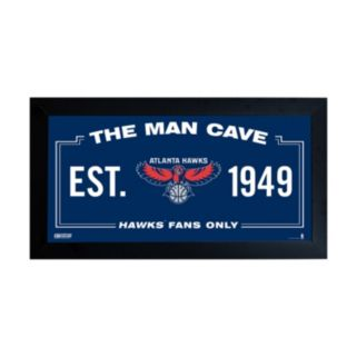 "Steiner Sports Atlanta Hawks Framed 10"" x 20"" Man Cave Sign"