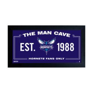 "Steiner Sports Charlotte Hornets Framed 10"" x 20"" Man Cave Sign"