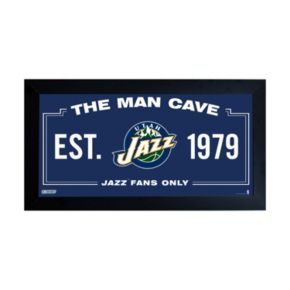 "Steiner Sports Utah Jazz Framed 10"" x 20"" Man Cave Sign"