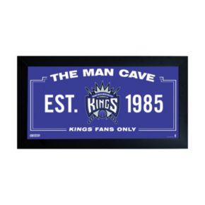 "Steiner Sports Sacramento Kings Framed 10"" x 20"" Man Cave Sign"