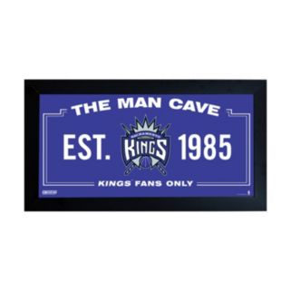 "Steiner Sports Sacramento Kings Framed 10"" x 20"" Man Cave Sign"