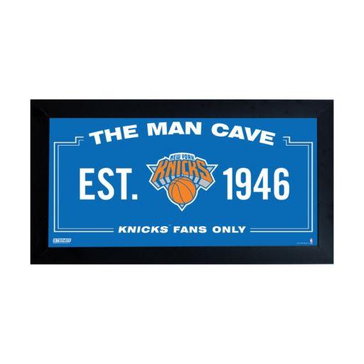 "Steiner Sports New York Knicks Framed 10"" x 20"" Man Cave Sign"