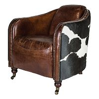 Safavieh Couture Fullham Leather Arm Chair