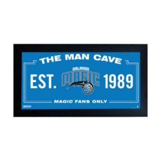"Steiner Sports Orlando Magic Framed 10"" x 20"" Man Cave Sign"