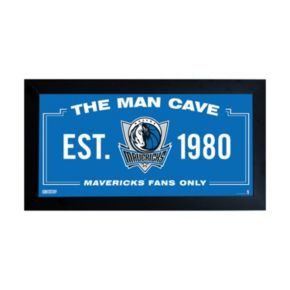 "Steiner Sports Dallas Mavericks Framed 10"" x 20"" Man Cave Sign"