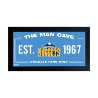 """Steiner Sports Denver Nuggets Framed 10"""" x 20"""" Man Cave Sign"""