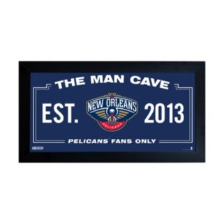 "Steiner Sports New Orleans Pelicans Framed 10"" x 20"" Man Cave Sign"