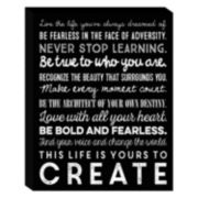 ''Yours To Create'' Canvas Wall Art