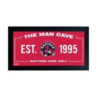 """Steiner Sports Toronto Raptors Framed 10"""" x 20"""" Man Cave Sign"""
