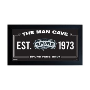 "Steiner Sports San Antonio Spurs Framed 10"" x 20"" Man Cave Sign"