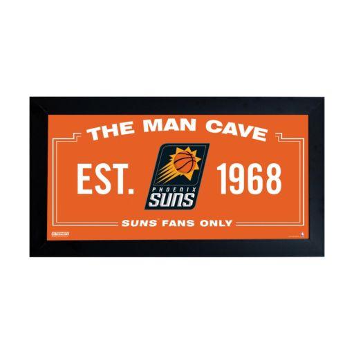 "Steiner Sports Phoenix Suns Framed 10"" x 20"" Man Cave Sign"