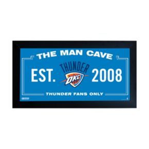 "Steiner Sports Oklahoma City Thunder Framed 10"" x 20"" Man Cave Sign"