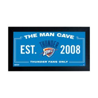 "Steiner Sports Oklahoma City Thunder Framed 10"" x 20"" Man Cave Sign"