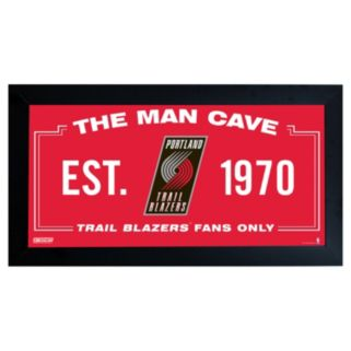 "Steiner Sports Portland Trail Blazers Framed 10"" x 20"" Man Cave Sign"