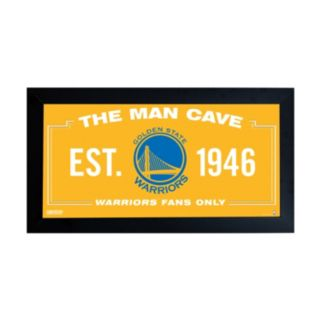 "Steiner Sports Golden State Warriors Framed 10"" x 20"" Man Cave Sign"