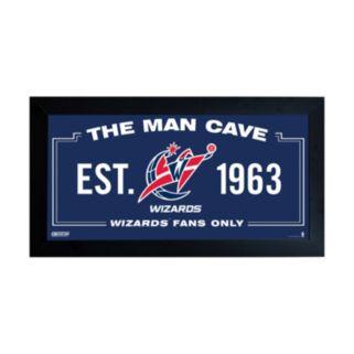 """Steiner Sports Washington Wizards Framed 10"""" x 20"""" Man Cave Sign"""