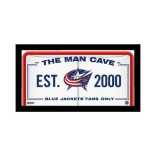 "Steiner Sports Columbus Blue Jackets Framed 10"" x 20"" Man Cave Sign"