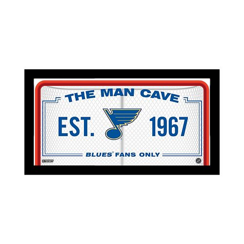 Steiner Sports St. Louis Blues Framed 10 x 20 Man Cave Sign
