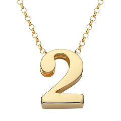 Sweet Sentiments 14k Gold Over Silver Number Charm Necklace