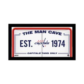 "Steiner Sports Washington Capitals Framed 10"" x 20"" Man Cave Sign"