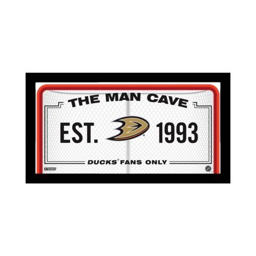 Steiner Sports Anaheim Ducks Framed 10 x 20 Man Cave Sign