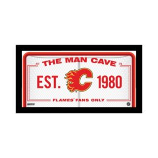 "Steiner Sports Calgary Flames Framed 10"" x 20"" Man Cave Sign"