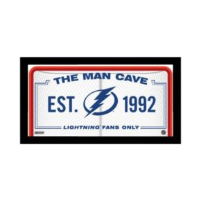 "Steiner Sports Tampa Bay Lightning Framed 10"" x 20"" Man Cave Sign"