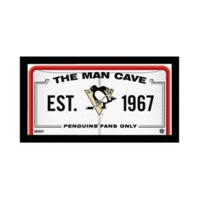 "Steiner Sports Pittsburgh Penguins Framed 10"" x 20"" Man Cave Sign"