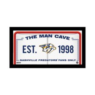 "Steiner Sports Nashville Predators Framed 10"" x 20"" Man Cave Sign"