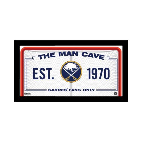 "Steiner Sports Buffalo Sabres Framed 10"" x 20"" Man Cave Sign"