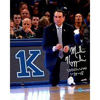 Steiner Sports Duke Blue Devils Mike Krzyzewski 1,00th Win Signed 8