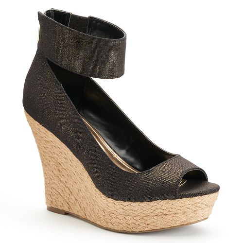 6a93589f1df Jennifer Lopez Women's Peep-Toe Espadrille Wedge Sandals