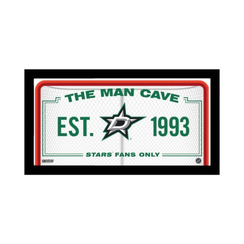 Steiner Sports Dallas Stars Framed 10 x 20 Man Cave Sign