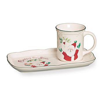 Pfaltzgraff Winterberry Cookies Tray & Mug Set