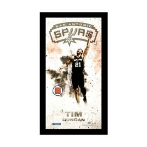 "Steiner Sports San Antonio Spurs Tim Duncan 10"" x 20"" Player Profile Wall Art with Game-Used Basketball"