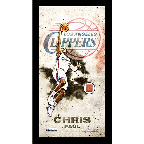 Steiner Sports Los Angeles Clippers Chris Paul 10 x 20 Player Profile Wall Art with Game-Used Bask...