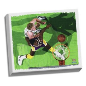"""Steiner Sports Larry Bird and Magic Johnson 22"""" x 26"""" Stretched Canvas"""