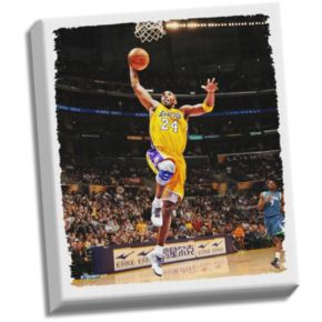 """Steiner Sports Los Angeles Lakers Kobe Bryant Dunk 22"""" x 26"""" Stretched Canvas"""
