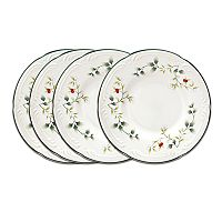 Pfaltzgraff Winterberry 4-pc. Appetizer Plate Set