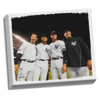 """Steiner Sports New York Yankees Core Four 22"""" x 26"""" Stretched Canvas"""