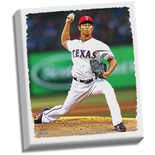 "Steiner Sports Texas Rangers Yu Darvish 22"" x 26"" Stretched Canvas"