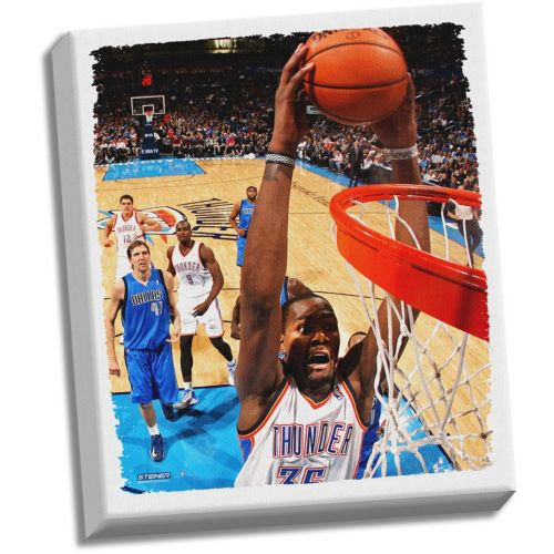 Steiner Sports Oklahoma City Thunder Kevin Durant 22 x 26 Stretched Canvas
